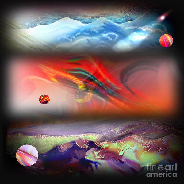 Mountains Poster featuring the digital art Range by Tighe O'DonoghueRoss