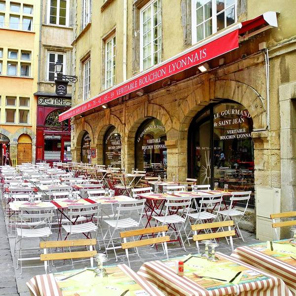 Street Cafe Poster featuring the photograph Ready For Lunch In Lyon by Kirsten Giving