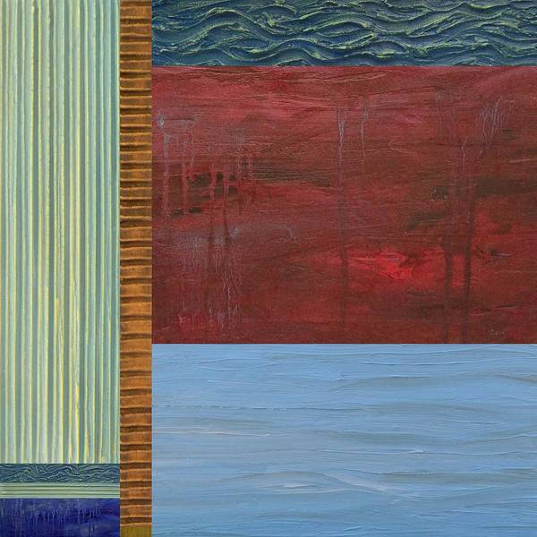 Lake Poster featuring the painting Red And Blue Study by Michelle Calkins