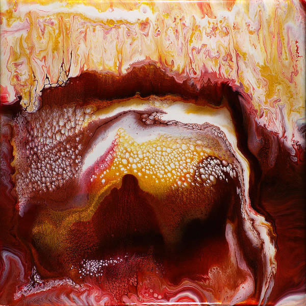 Cave Poster featuring the painting Red Caves by Paul Tokarski