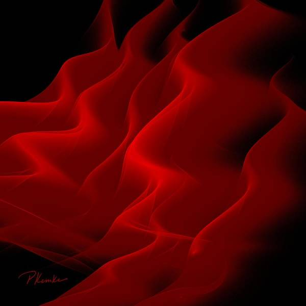 Vibrant Color Poster featuring the digital art Red Silk Dreams by Patricia Kemke