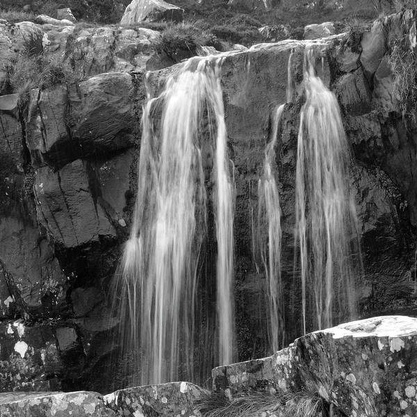 Waterfall Poster featuring the photograph Roadside Waterfall - Ireland by Mike McGlothlen