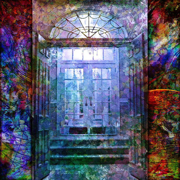 Arch Poster featuring the digital art Rounded Doors by Barbara Berney