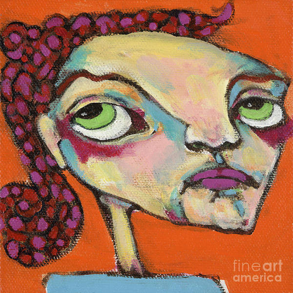 Circle Head Art Poster featuring the painting Roxie Box by Michelle Spiziri