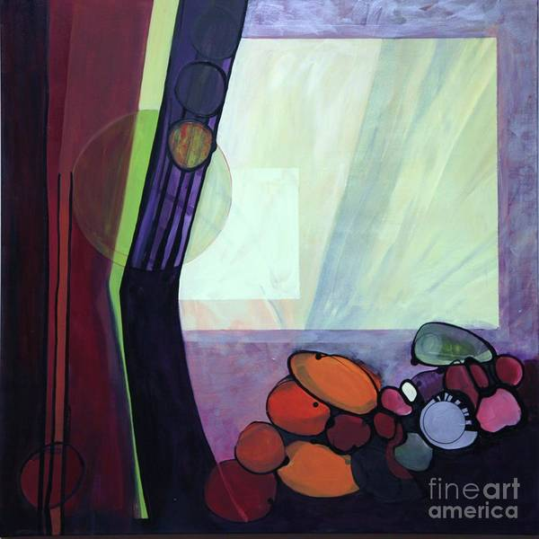 Abstract Poster featuring the painting Roxie by Marlene Burns