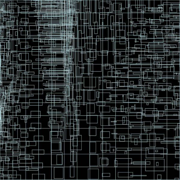 Abstract Poster featuring the digital art S.2.49 by Gareth Lewis