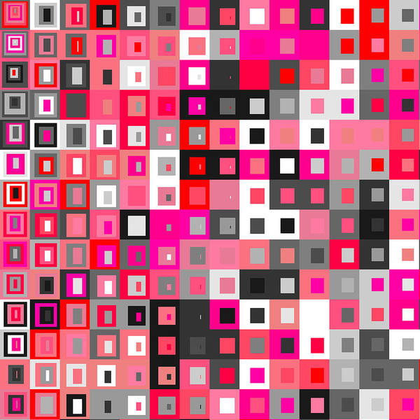 Abstract Poster featuring the digital art S.5.42 by Gareth Lewis