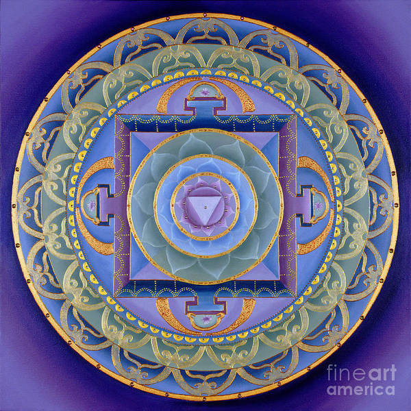 Mandala Poster featuring the painting Sacred Feminine by Charlotte Backman