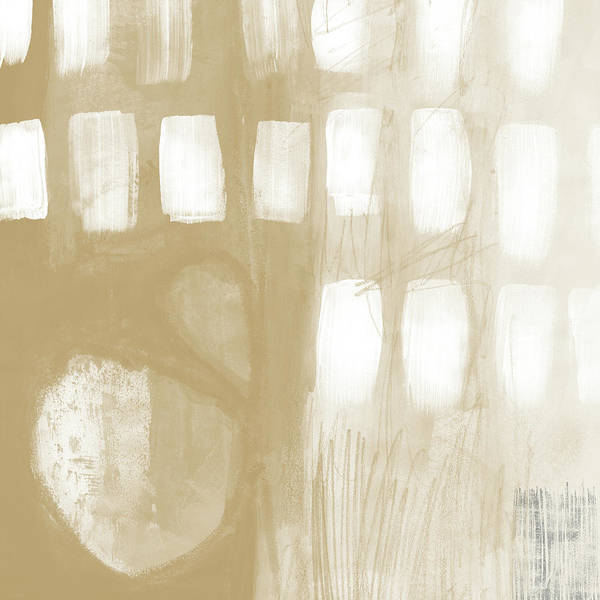 Abstract Poster featuring the painting Sand And Stone 4- Contemporary Abstract Art By Linda Woods by Linda Woods