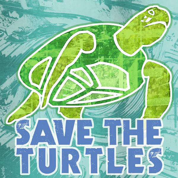 Save The Turtles Poster By Mary Ogle