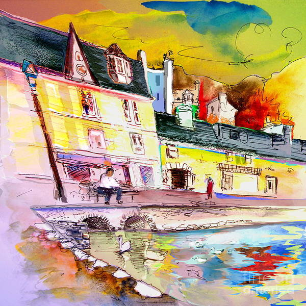 Scotland Paintings Poster featuring the painting Scotland 04 by Miki De Goodaboom