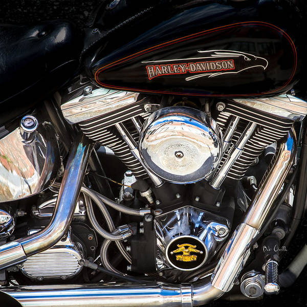Screaming Eagle Harley Davidson Poster featuring the photograph Screaming Eagle by Bob Orsillo