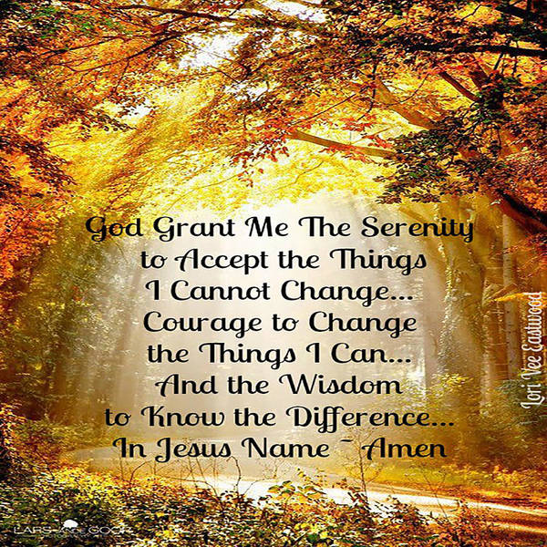 Serenity Poster featuring the painting Serenity Prayer by Lori Vee Eastwood Designs for Hope