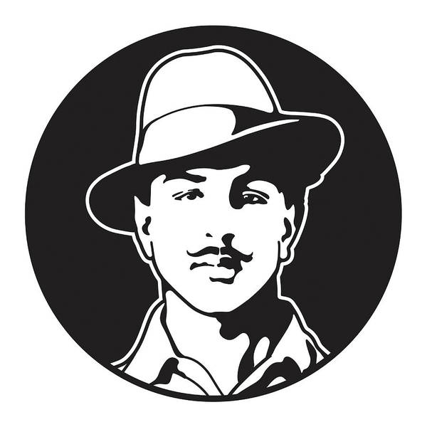 7ad9d8c7f Portrait Poster featuring the digital art Shaheed Bhagat Singh by Manish  Mansinh