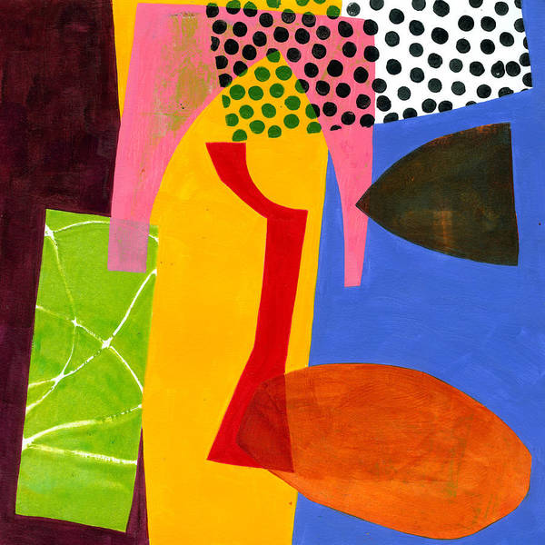 Jane Davies Poster featuring the painting Shapes 4 by Jane Davies