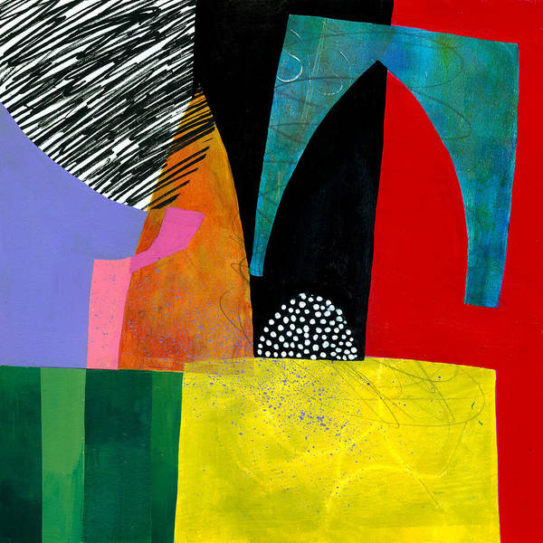 Jane Davies Poster featuring the painting Shapes 5 by Jane Davies