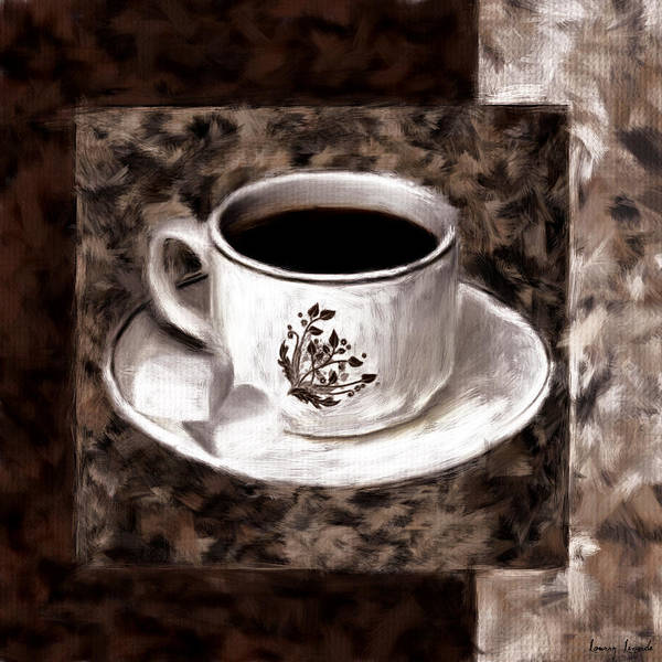 Coffee Poster featuring the digital art Simply Aromatic by Lourry Legarde