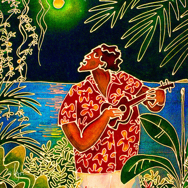Hawaii Poster featuring the painting Sing Hanalei Moon by Angela Treat Lyon
