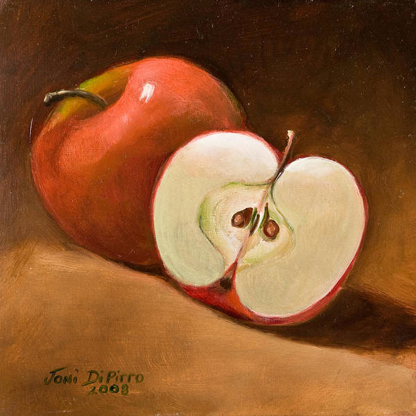 Apple Poster featuring the painting Sliced Apple by Joni Dipirro