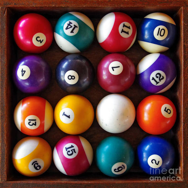 Action Poster featuring the photograph Snooker Balls by Carlos Caetano