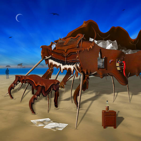 Surrealism Poster featuring the photograph Soft Grand Piano Man by Mike McGlothlen