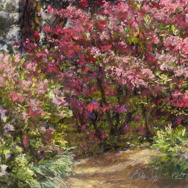 Pastel Painting Poster featuring the pastel Solitude by L Diane Johnson