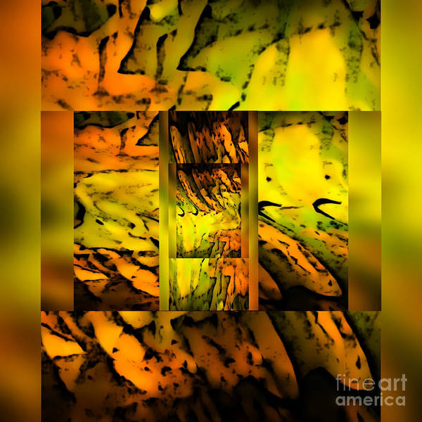 Digital Abstract Image Green Poster featuring the digital art Something Dreamy by Gayle Price Thomas