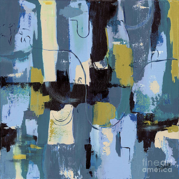Abstract Poster featuring the painting Spa Abstract 2 by Debbie DeWitt