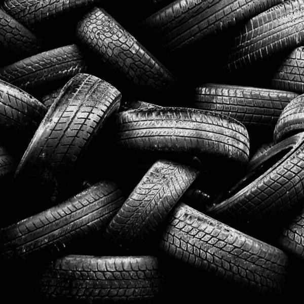 Square Poster featuring the photograph Spare Tires by Margherita Wohletz