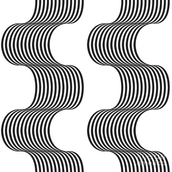 Spirals Poster featuring the digital art Spiral_02 by Iara Falcao Lindback