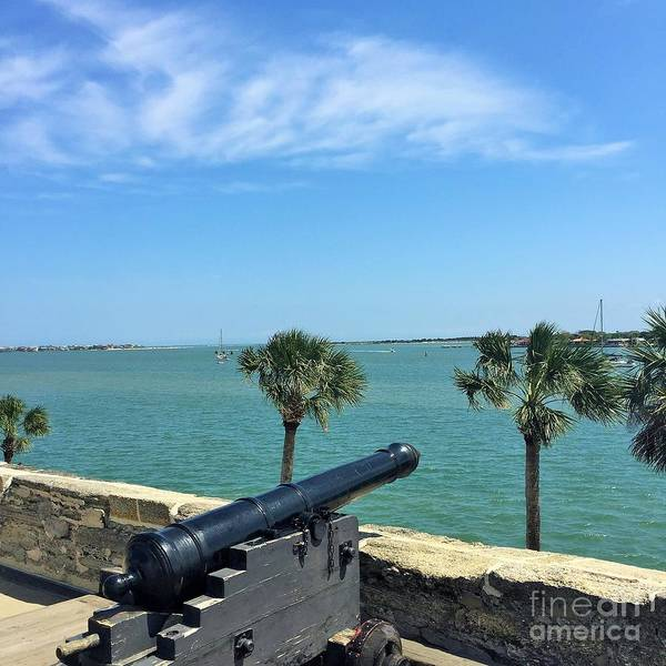 St. Augustine Poster featuring the photograph St. Augustine Historical Fort by Linda Dautorio