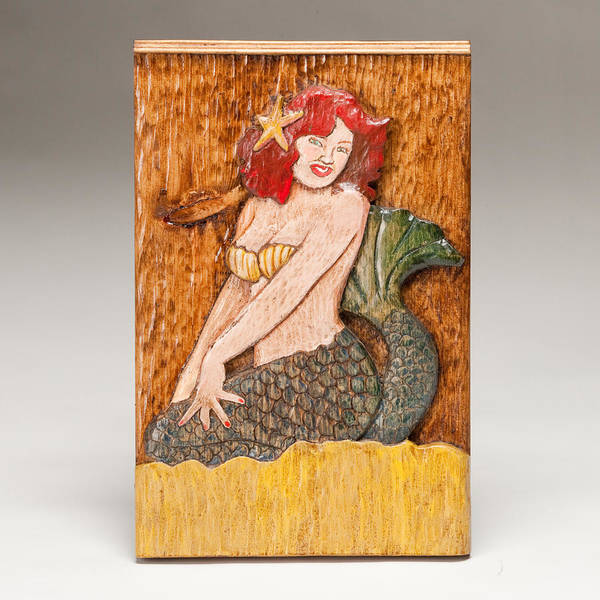 Mermaid Poster featuring the sculpture Star Mermaid by James Neill