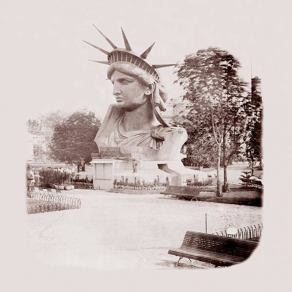 Statue Of Liberty Poster featuring the photograph Statue Of Liberty 1883 by Andrew Fare