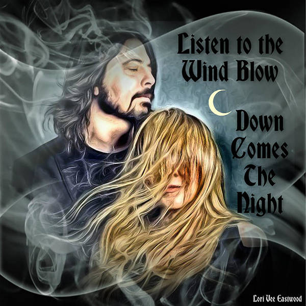 Stevie Nicks Poster featuring the painting Stevie Nicks - Dave Grohl by Lori Vee Eastwood Designs for Hope