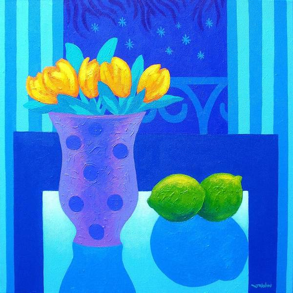 Acrylic Poster featuring the painting Still Life At Window IIi by John Nolan