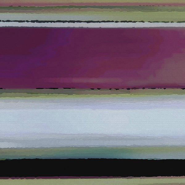 Abstract Poster featuring the digital art Straight Across by Ruth Palmer