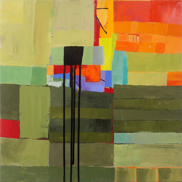 Abstract Art Poster featuring the painting Stripes And Dips 1 by Jane Davies
