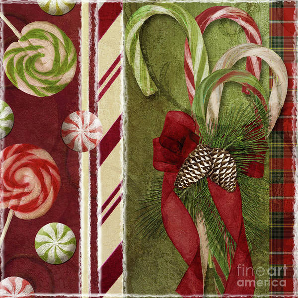 Christmas Poster featuring the painting Sweet Holiday I by Mindy Sommers