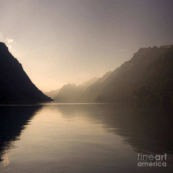 Alps Poster featuring the photograph Swiss Lake by Angel Ciesniarska