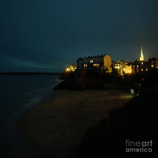 Tenby Poster featuring the photograph Tenby By Night by Angel Ciesniarska