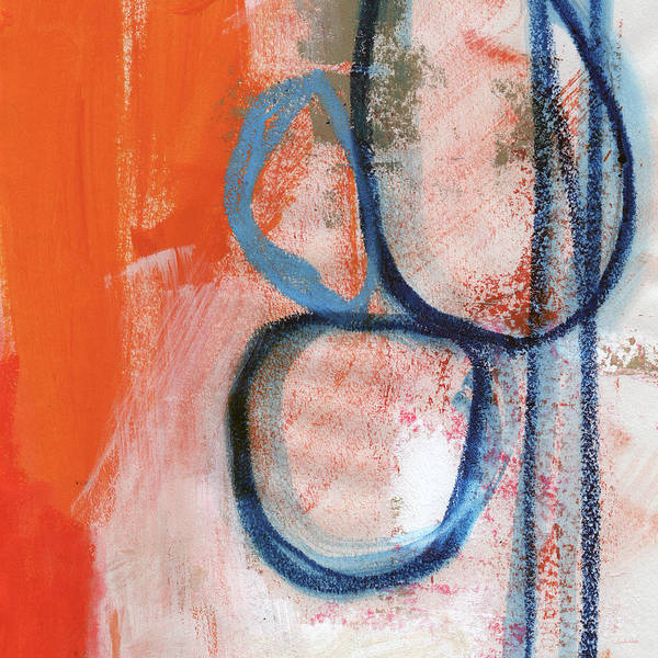 Contemporary Abstract Poster featuring the painting Tender Mercies by Linda Woods