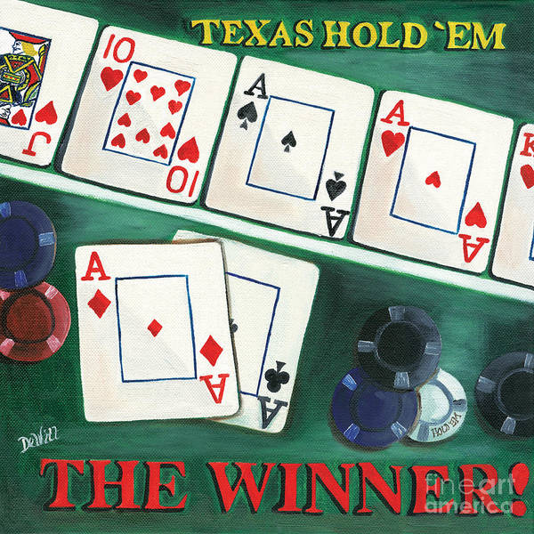 Cards Poster featuring the painting The Winner by Debbie DeWitt