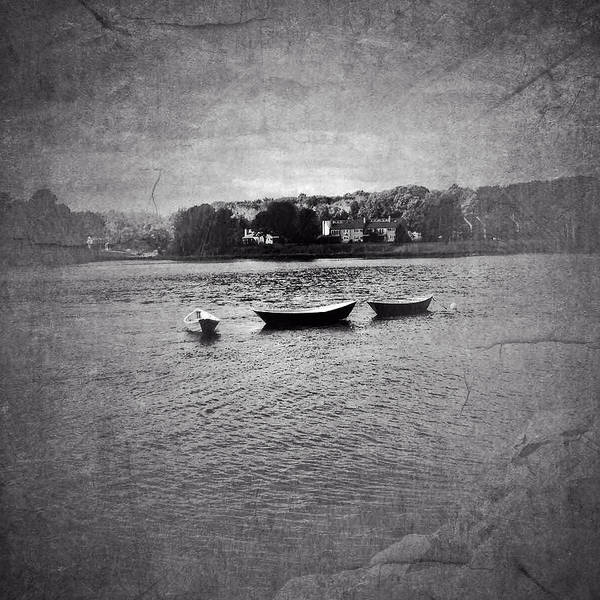 Kennebunkport Poster featuring the photograph Three Dories by Ann Tracy