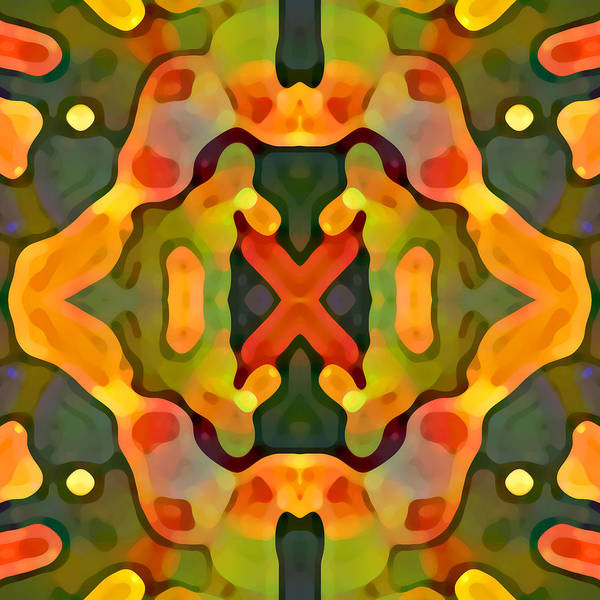 Abstract Poster featuring the painting Treasure by Amy Vangsgard