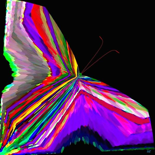 Abstract Poster featuring the digital art Tropical Butterfly by Will Borden