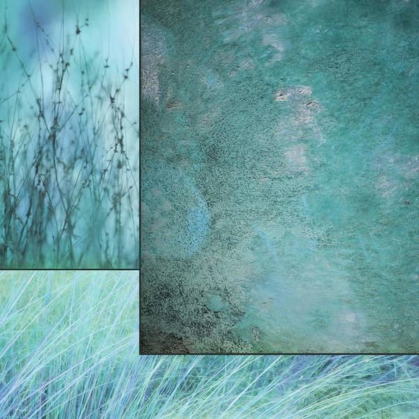 Abstract Poster featuring the photograph Turquoise Textures by Lori Deiter