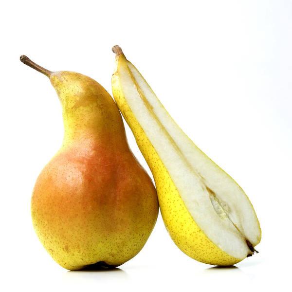Studio Shot Poster featuring the photograph Two Pears by Bernard Jaubert