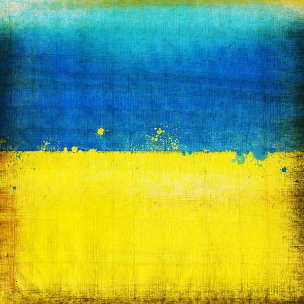 Chalk Poster featuring the painting Ukraine Flag by Setsiri Silapasuwanchai