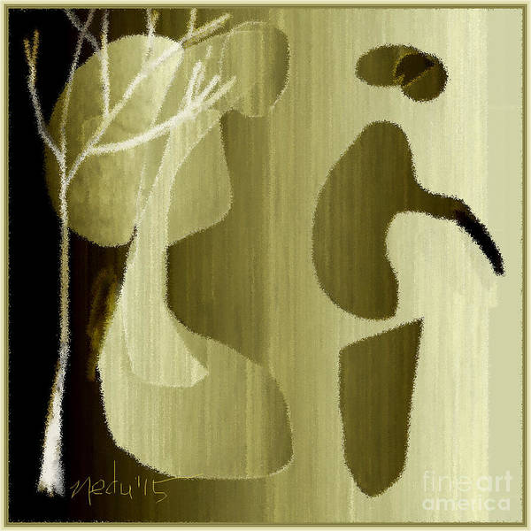 Fine Art Poster featuring the painting Untitled 670 by Nedunseralathan R