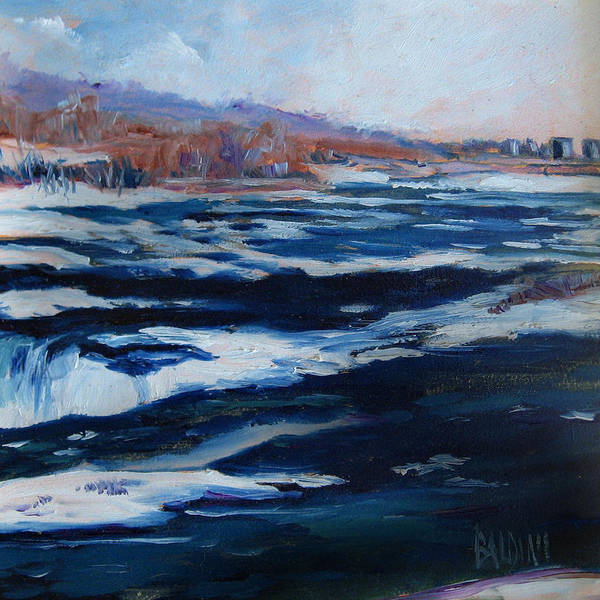 Niagara Falls Poster featuring the painting Upper Rapids Niagara Falls by J R Baldini